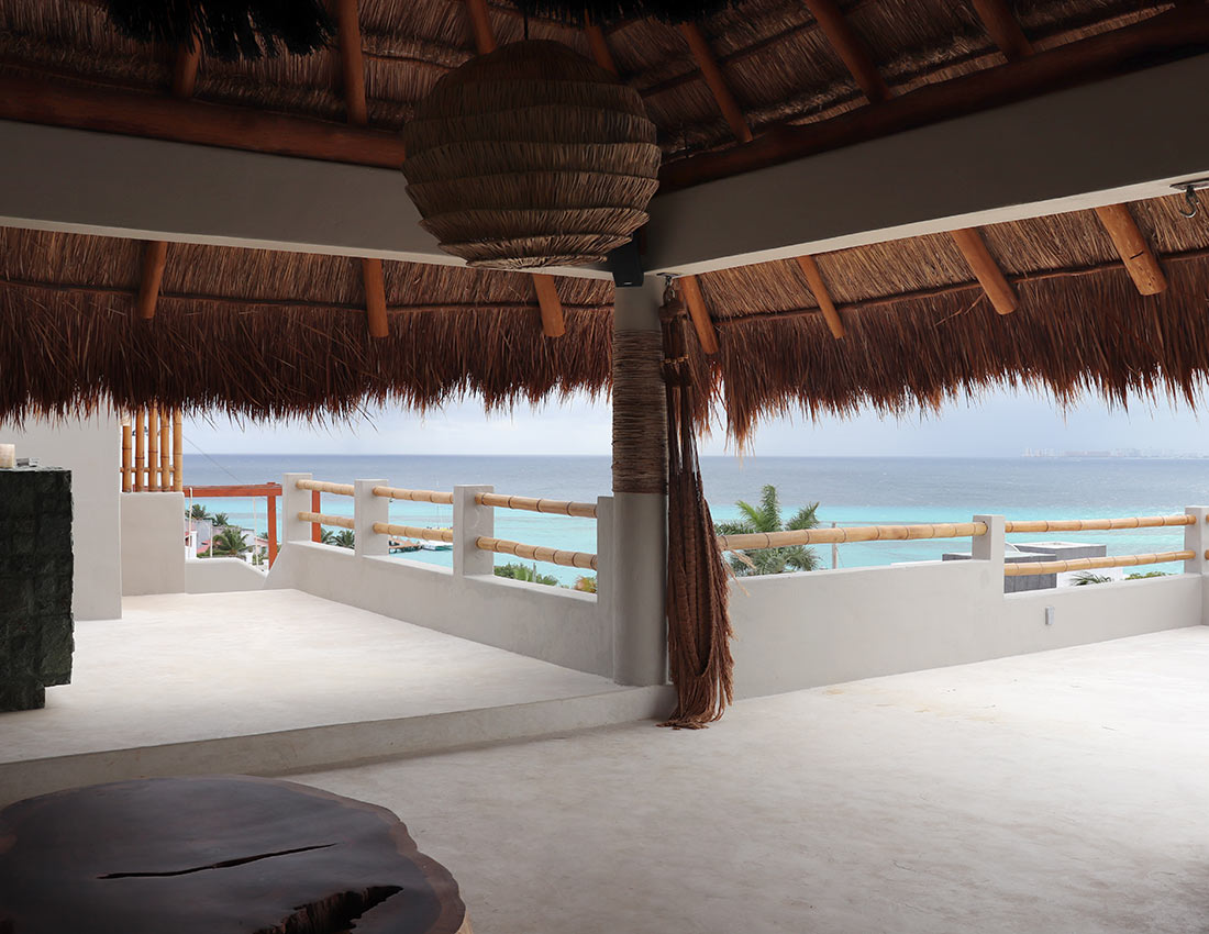 rooftop palapa ocean views