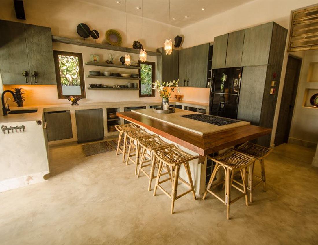 kitchen casa kamala isla mujeres