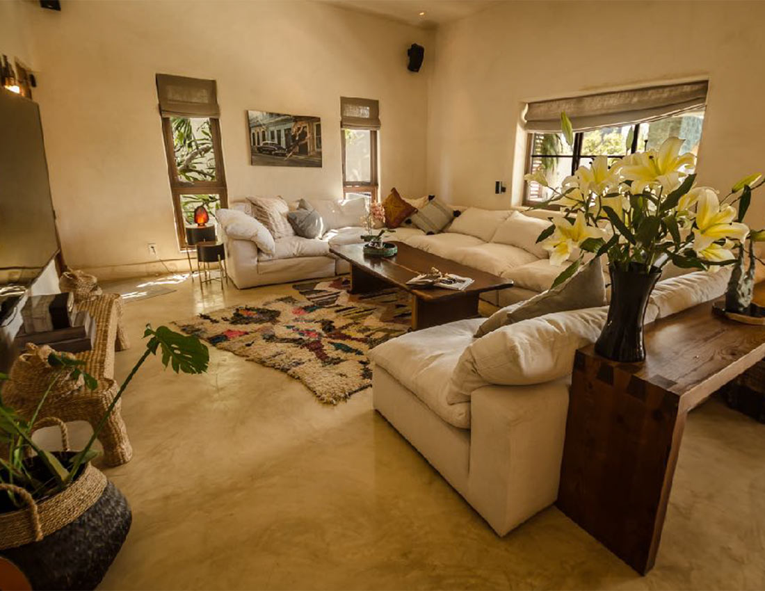 living room casa kamala isla mujeres